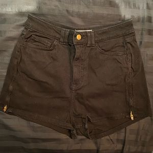 Black American Apparel High Waisted Shorts
